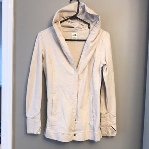 😍North Face Cream Colored Cotton Jacket